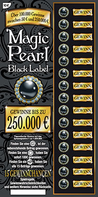 Das 250.000 Euro Rubbellos Magic Pearl Black Label